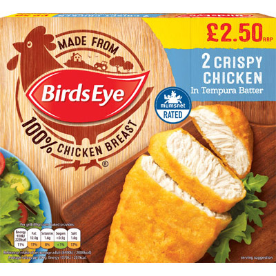 PM £2.50 Birds Eye Crispy Chicken 2's