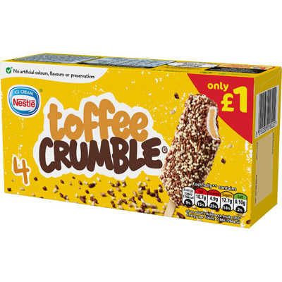 PM £1 Toffee Crumble Multipack