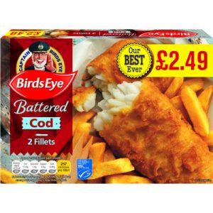PM £2.49 Birds Eye 2 Cod in Crispy Batter