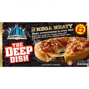 PM £2.00 Chicago Town Mega Meaty Twin Pack