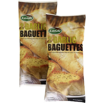Lands Garlic Baguettes 2's