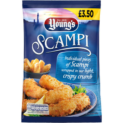 PM £3.50 Young's Scampi CASE