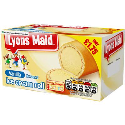 PM £1.75 Lyons Maid Vanilla Roll