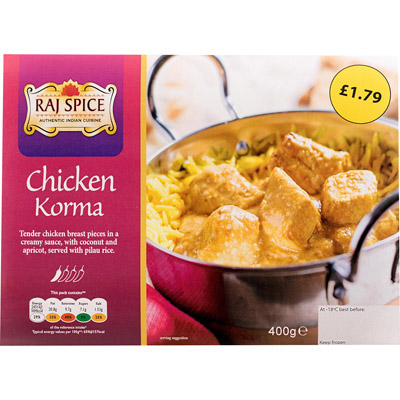 PM £1.79 Raj Chicken Korma