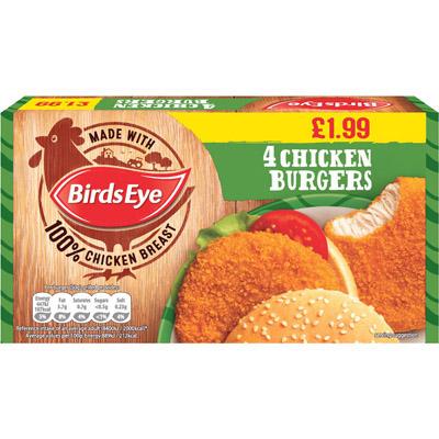 PM £1.99 Birds Eye 4 ChickBurger