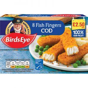 PM £2.50 Birds Eye 8 Cod Fishfingers