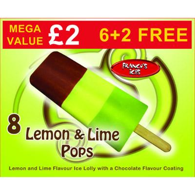 PM £2.00 Franco's Lemon & Lime 8pk