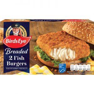 Birds Eye 2 BREADED Fish Fillet Burgers
