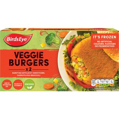 Birds Eye 2 Vegetable 1/4lb BurgerS