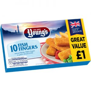 PM £1.00 Young's 10 Fish Fingers