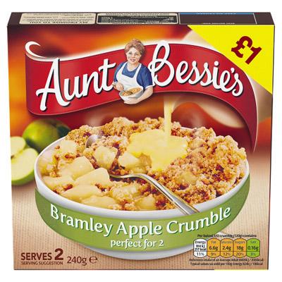 PM £1.00 Aunt Bess Apple Crumble