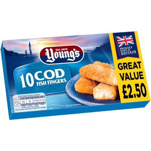 PM £2.50 Young's 10 Cod Fingers