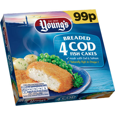 PM £99p Young's 4 Fish Cakes