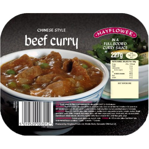 Mayflower Beef Curry CASE