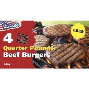 PM £2.19 Yankee 4 Beef Grills