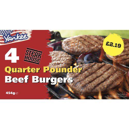 PM £2.19 Yankee 4 Beef Grills