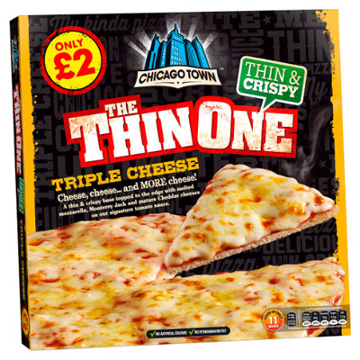 PM £2.00 Chicago Town Thin One Cheese