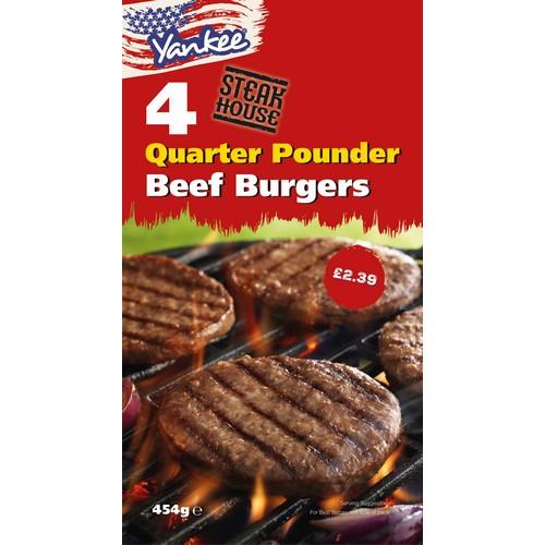 PM £2.39 Yankee 1/4 Burger