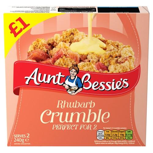 PM £1.00 Aunt Bess Rhubarb Crumble