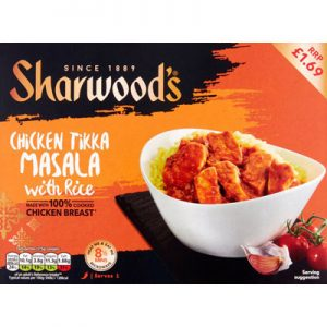 PM £1.69 Sharwood's Chicken Tikka Masala & Rice