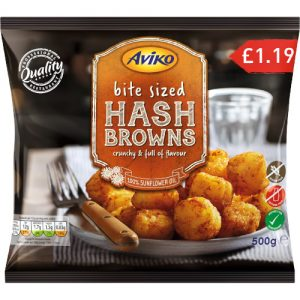 PM £1.19 Aviko Bite Size Hash Browns