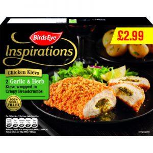 PM £2.99 Birds Eye Inspirations Chicken Kievs