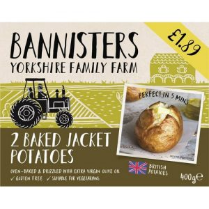 PM £1.89 Bannister 2 Jacket Potatoes