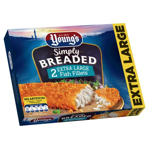 PM £3.00 Young's Simply Breaded 4 Fish Fill