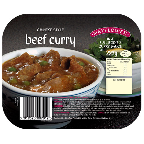 Mayflower Beef Curry UNIT