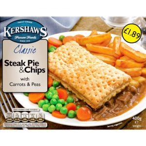 PM £1.89 Kershaws Steak Pie & Chips