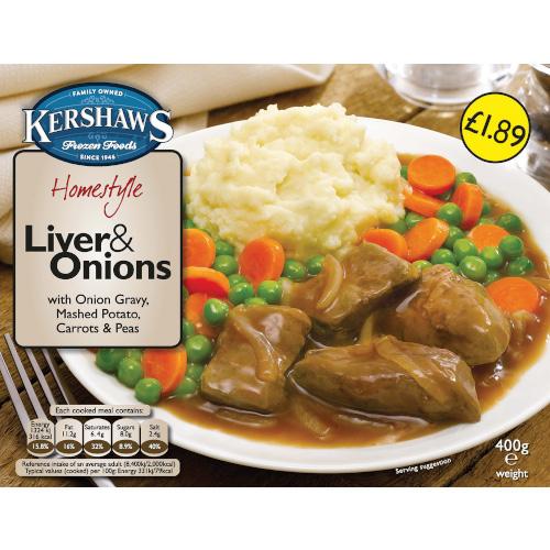 PM £1.89 Kershaws Liver & Onion