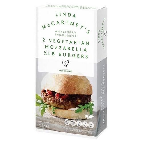 Linda McCartney Mozzarella 1/4lb Burger