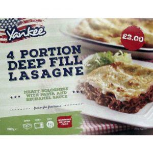 PM £3.00 Yankee Deep Lasagne